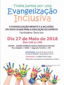 Evangelização Inclusiva @ GEMFR - Grupo Espírita Maria Francisca Rocha | Minas Gerais | Brasil